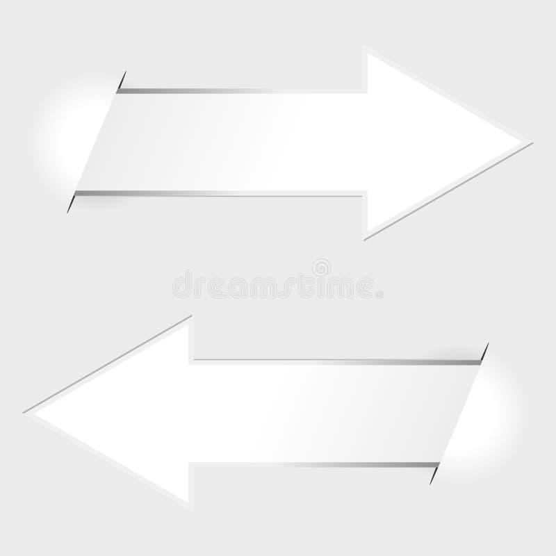 paper etiketter för pil stock illustrationer