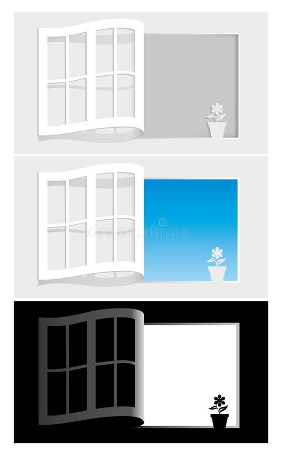 Download Paper fönster vektor illustrationer. Illustration av casement - 19776716