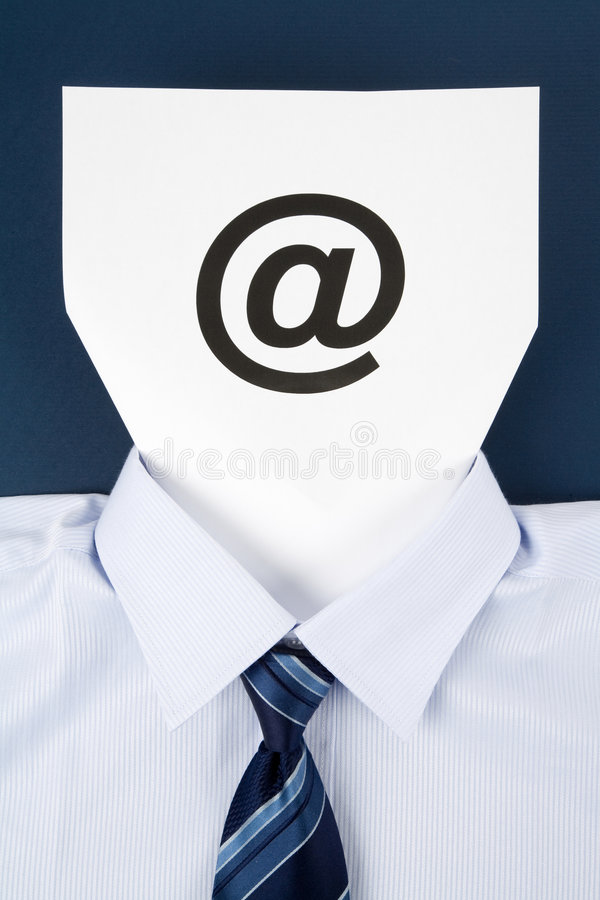 Paper Face and Email Sign. Business Concept stock photos