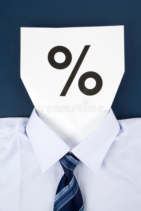 Download Paper Face And Percentage Sign Stock Image - Image: 9276127