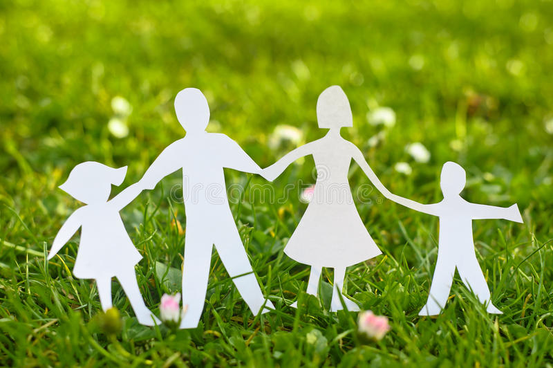 Download Paper Family stock photo. Image of parent, father, chain - 23805312