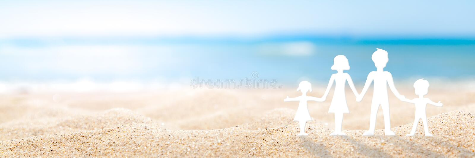 Family Day At The Beach royalty free stock images
