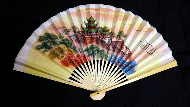 Download Paper Fan stock image. Image of symbol, painting, handle - 25685