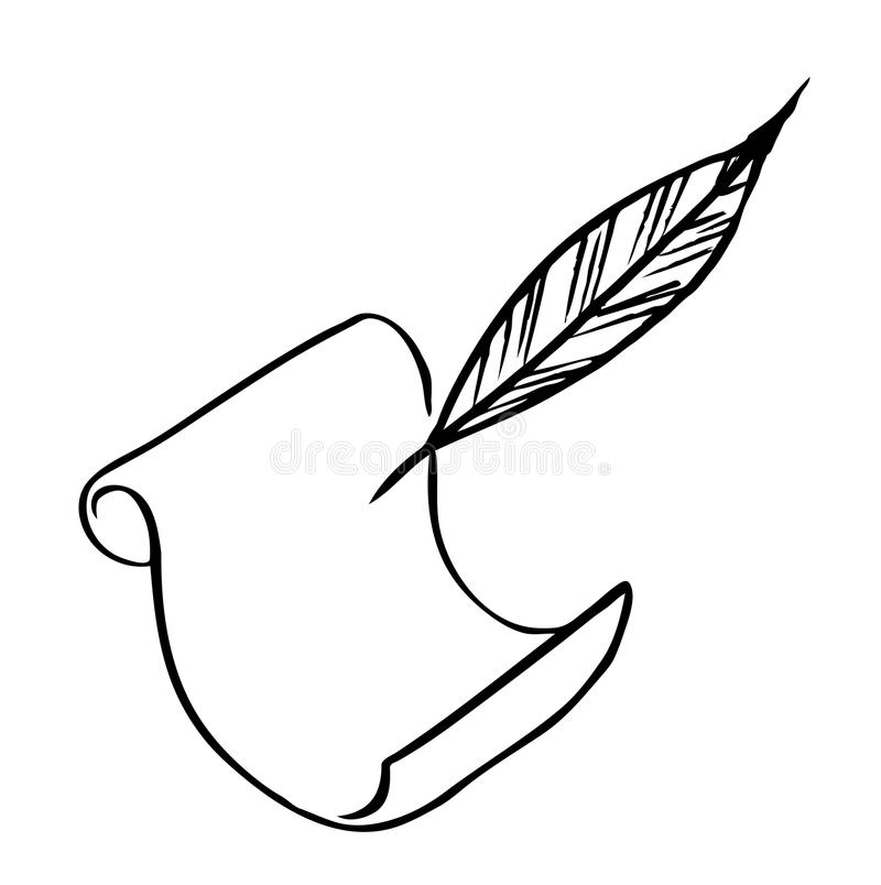Download Paper With Feather (Vector) Stock Vector - Image: 11588261
