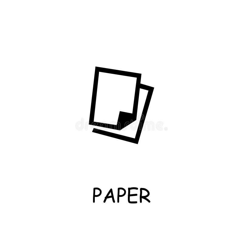 Paper flat vector icon stock illustration