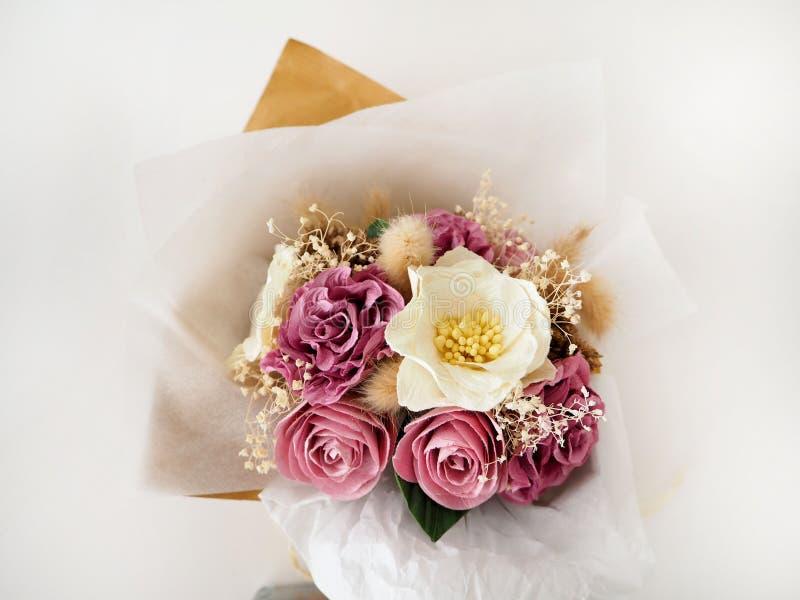 Paper Floral Bouquet stock images