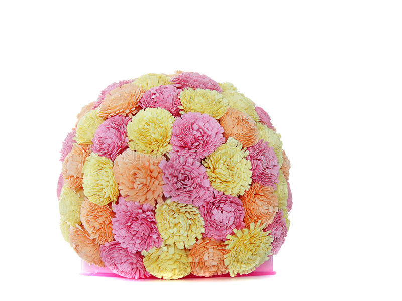 Paper flower ball, quilling royalty free stock image