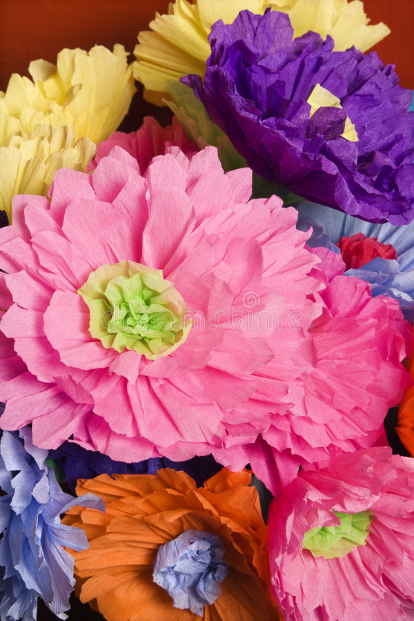 Paper flowers. royalty free stock images
