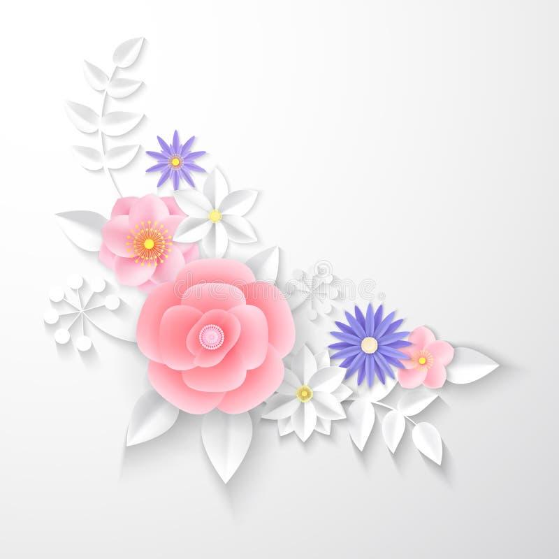 Paper flowers. Background. Vector illustration vector illustration