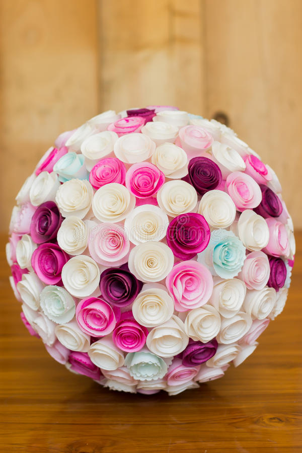 Paper flowers ball stock photo. Image of natural, background - 57075584