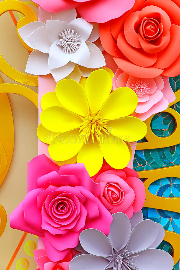 Paper flowers decorative background stock image image of download paper flowers decorative background stock image image of attractive craftsmanship 90567133 mightylinksfo