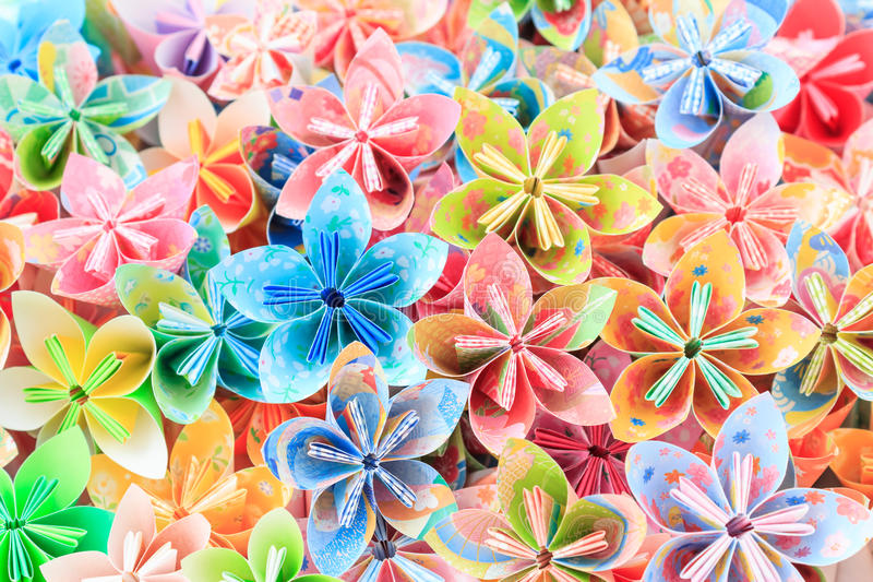 Download Paper flowers stock image. Image of decoration, japanese - 41912685