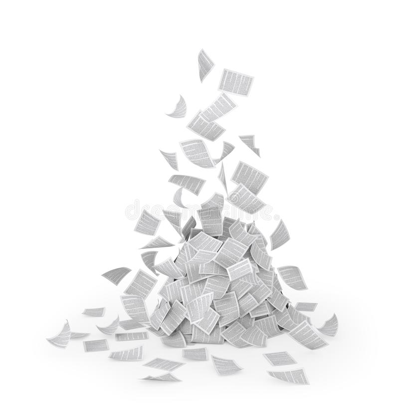 Paper, flying documents stock illustration