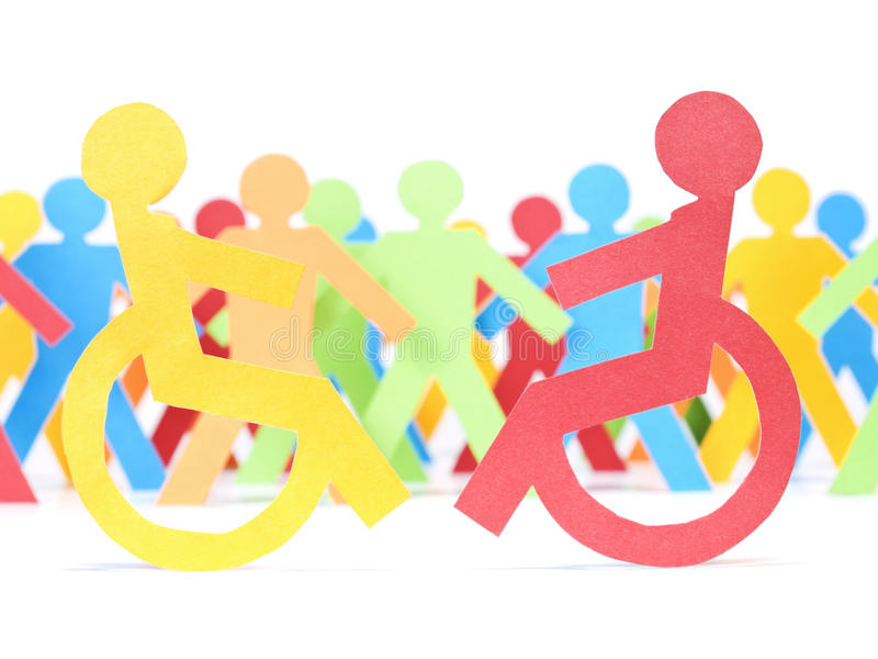 paper folk för handikapp arkivbilder
