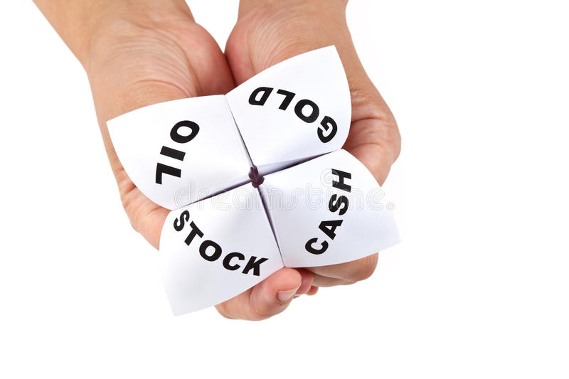 Paper Fortune Teller Stock Photography