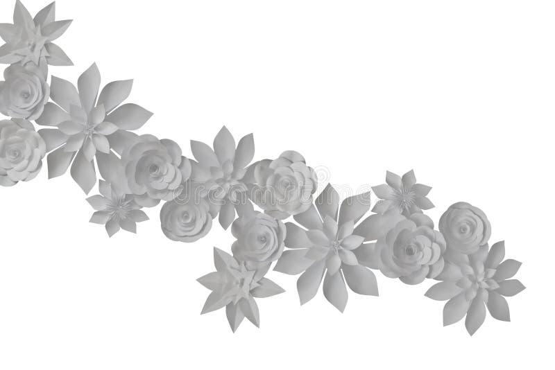 paper foto för härliga blommor mycket arkivbild