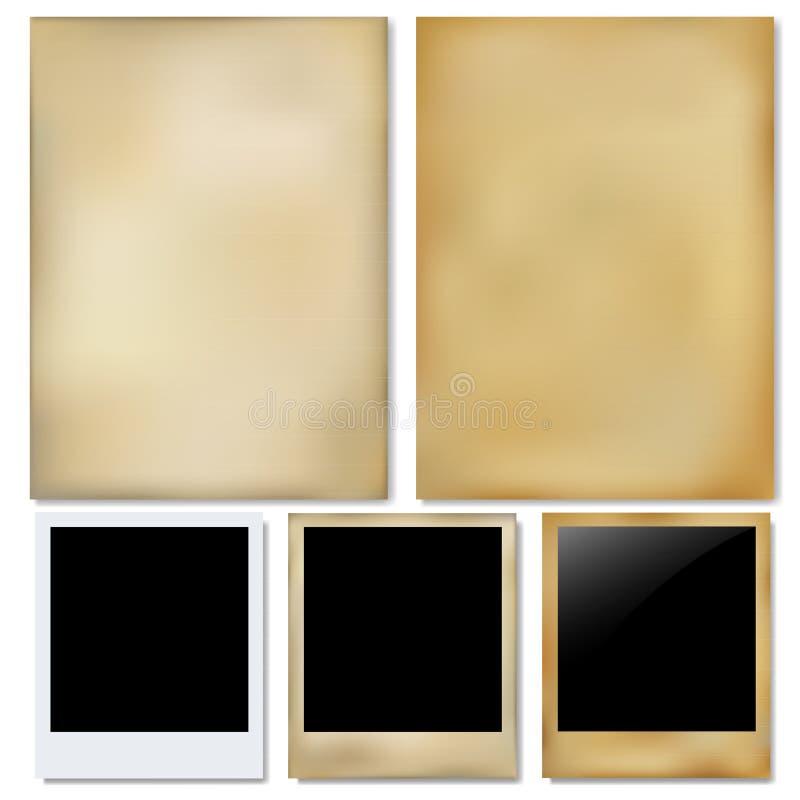 paper fotovektortappning royaltyfri illustrationer