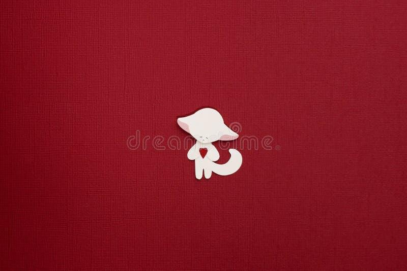Paper fox applique stock images