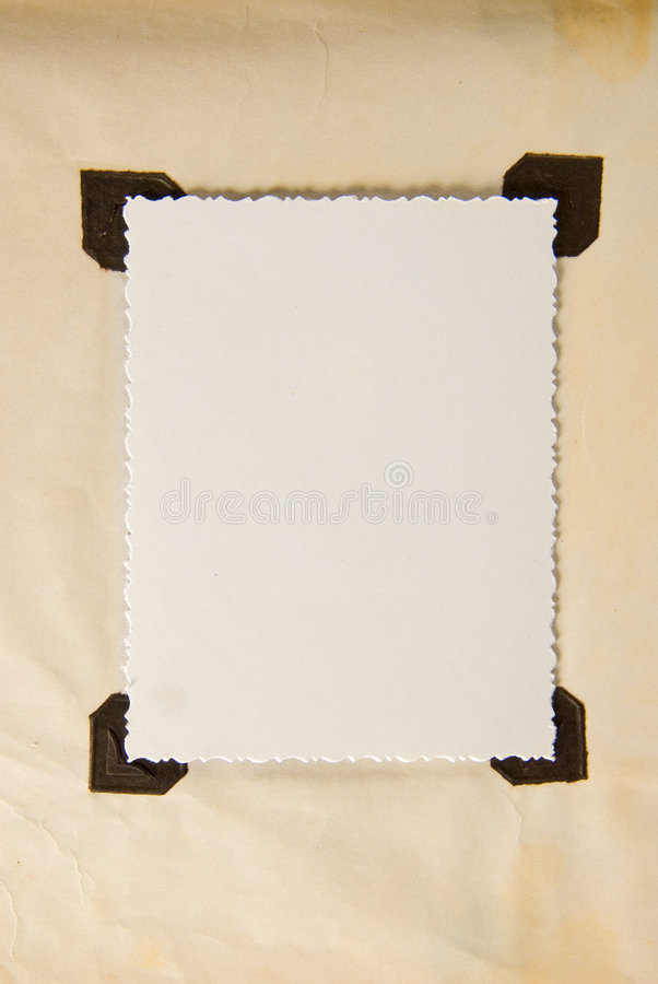 Paper frame stock image