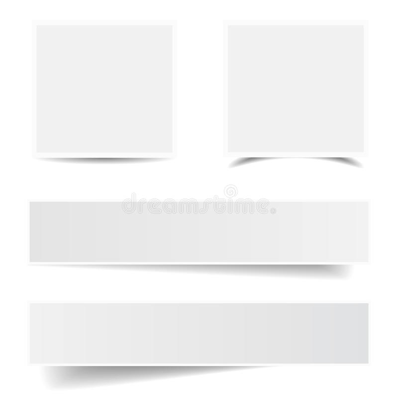 Paper Frame Shadow Collection Stock Illustration - Illustration of ...