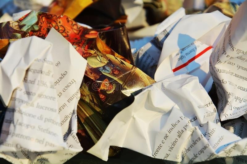 Paper garbage royalty free stock photography