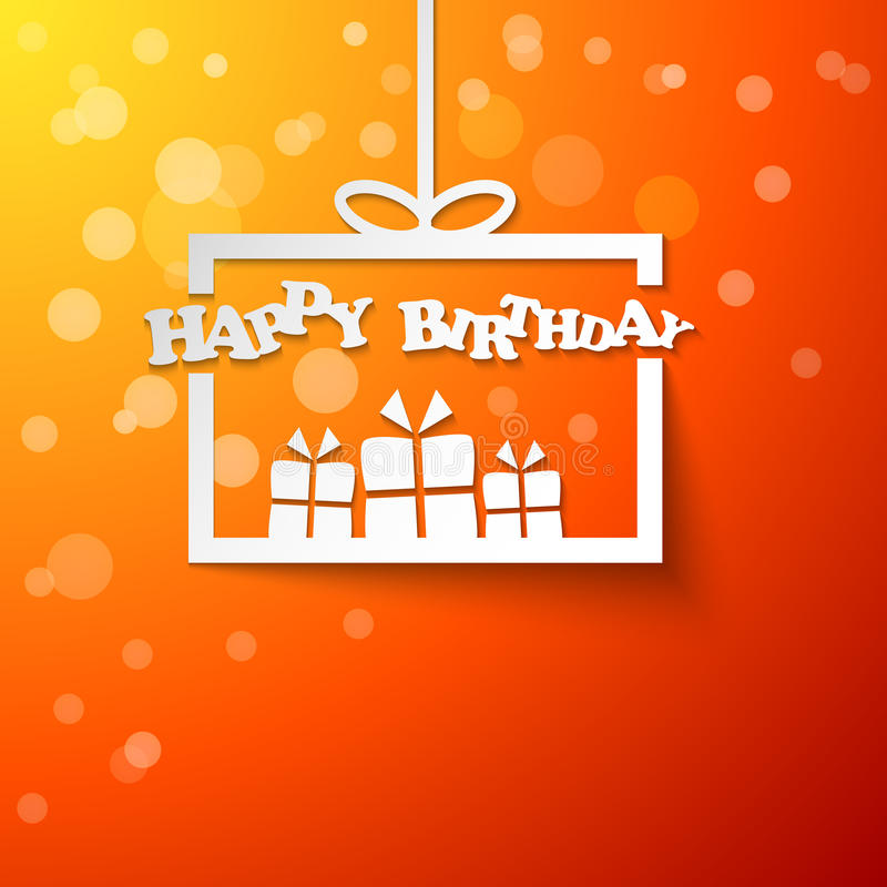 Download Paper Gift Box With Happy Birthday Stock Vector - Image: 34676886
