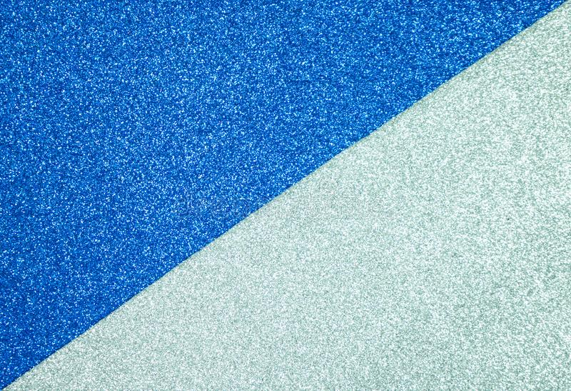 Paper Glitter blue and silver texture for background or card stock photography