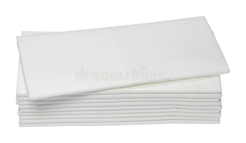 Paper handkerchiefs. Ten white paper handkerchiefs are on one another royalty free stock photography