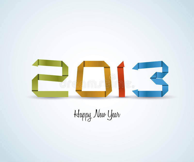 Download Paper Happy New Year 2013 Vector Card Stock Vector - Illustration: 28077228
