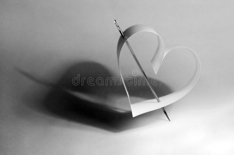 Paper heart royalty free stock photos