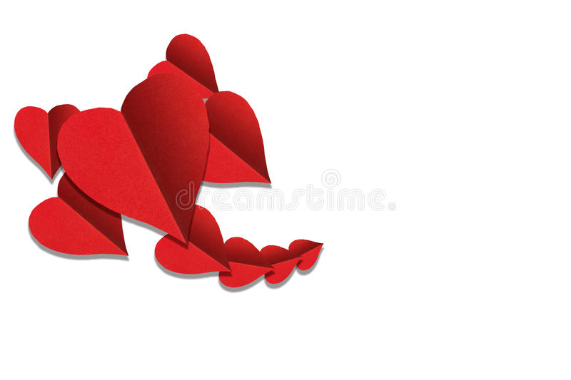 Paper heart isolated stock image