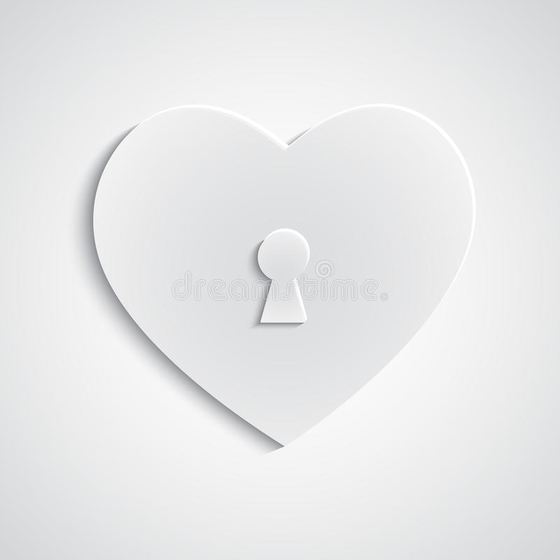 Download Paper heart with keyhole stock vector. Image of textured - 37281900
