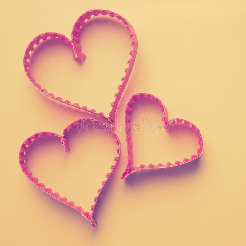Paper Heart Shape Symbol For Valentines Day Stock Image Image Of