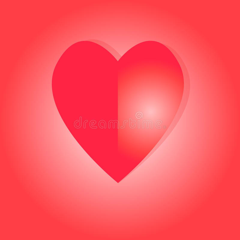 Paper heart. Symbol of love for your design for greeting cards, invitations stock image