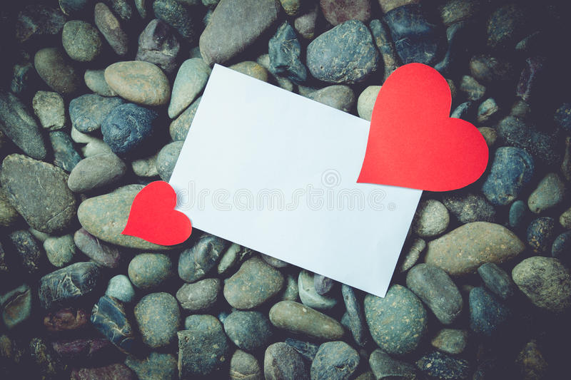 Paper heart valentine day stock image