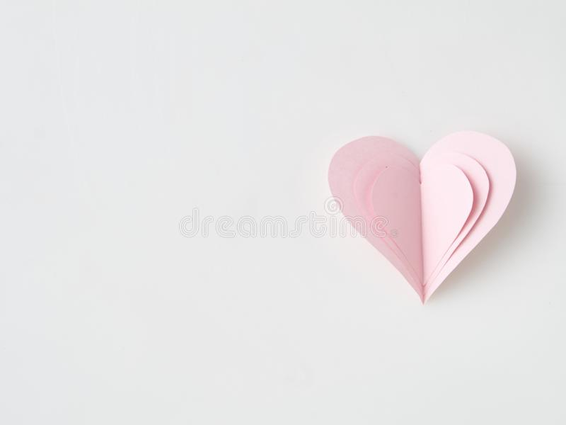Paper Heart Valentines Day royalty free stock photo