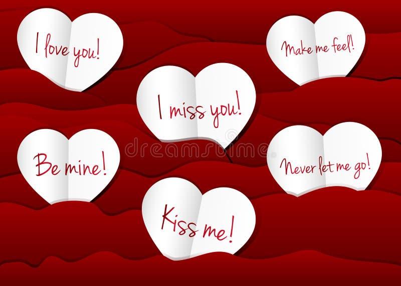 Paper hearts background. vector illustration