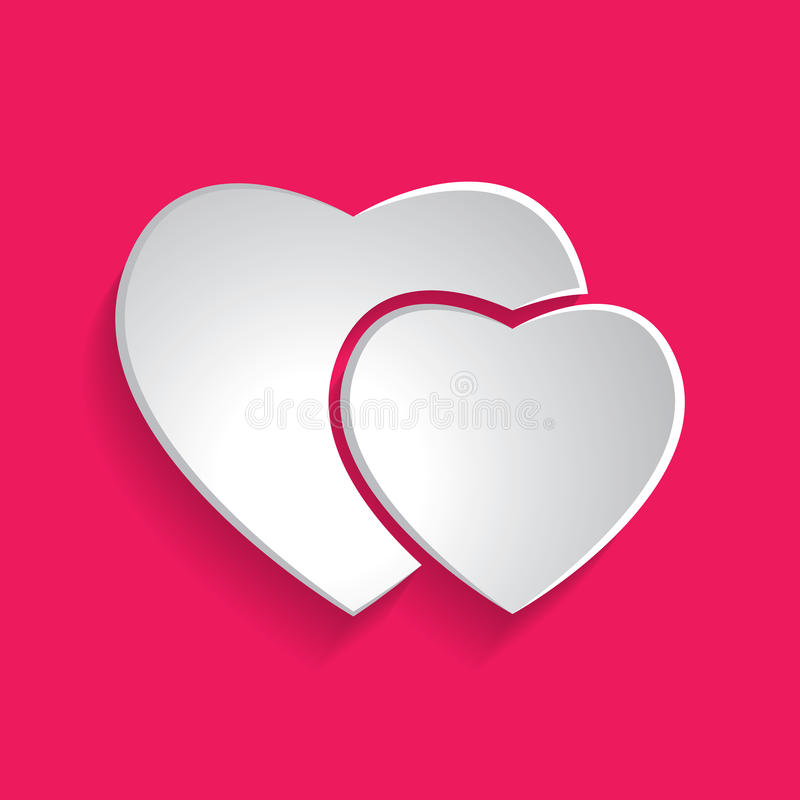 Paper hearts icon. Illustration vector illustration
