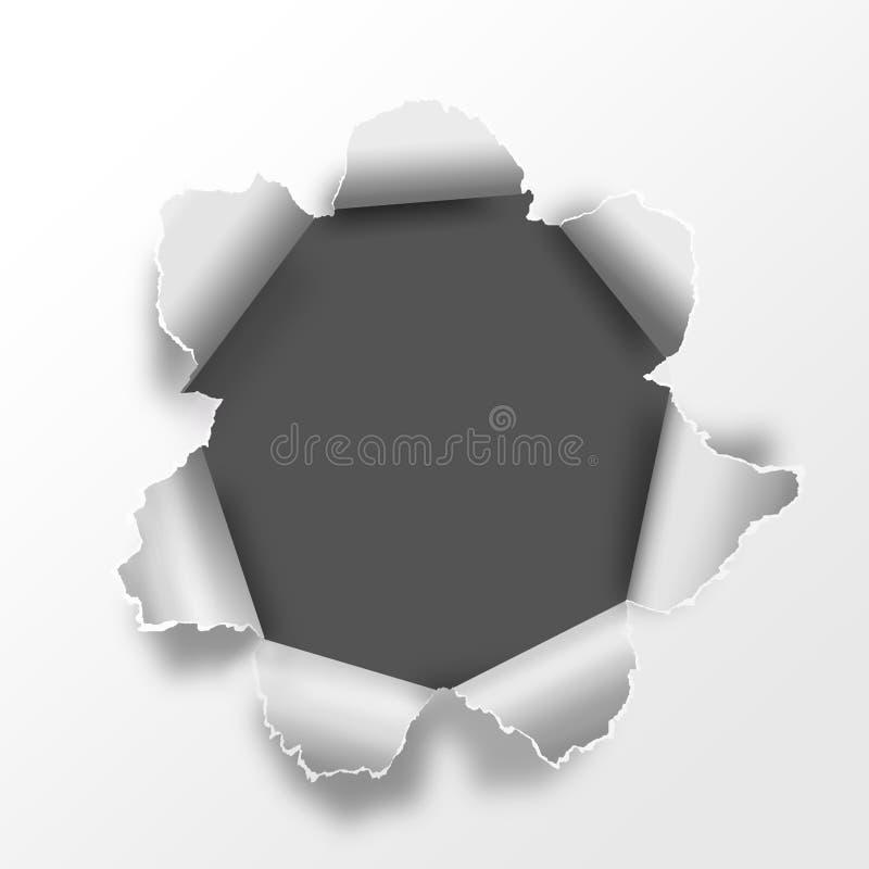 Paper hole royalty free illustration