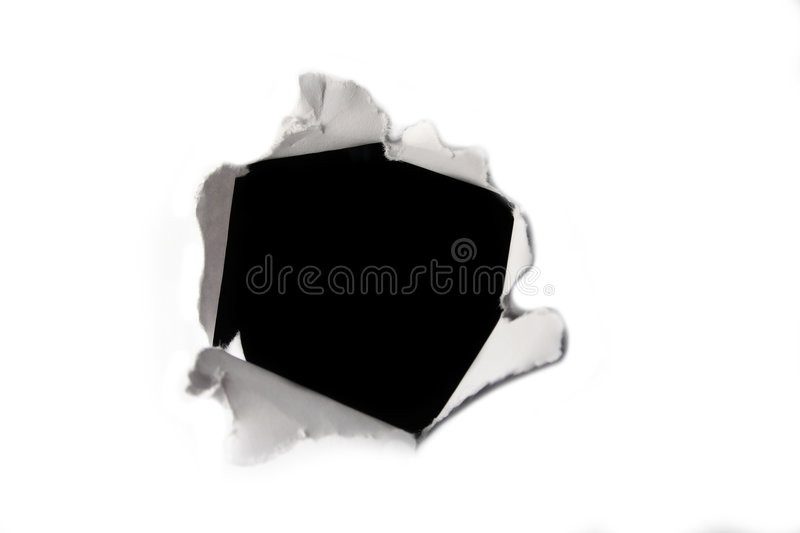 Paper hole royalty free stock photo