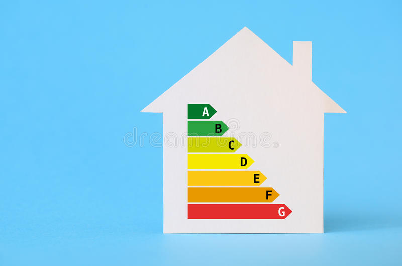 Download Paper House With Energy Efficiency Chart Stock Illustration    Illustration Of Effectiveness, Class:
