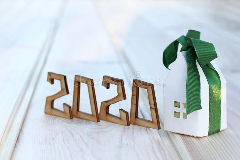 Concept of new housing in 2020 royalty free stock images