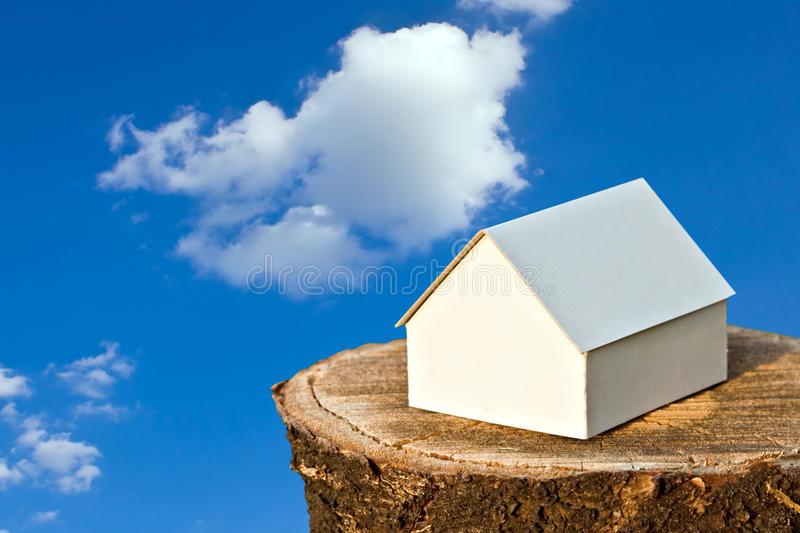 Download Paper House on wood stock image. Image of house, architecture - 10606757