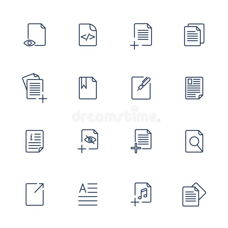Paper icon, Document icon, Vector EPS10 vector illustration