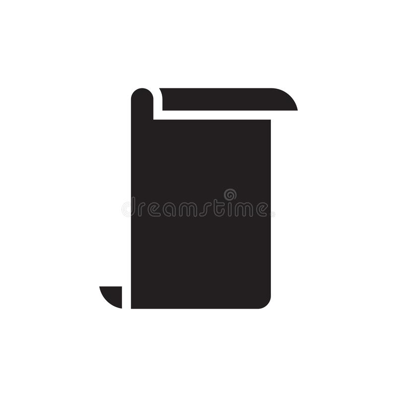 Paper icon graphic design template vector. Illustration agreements application archive archives black business computer concept copies credential data doc royalty free illustration