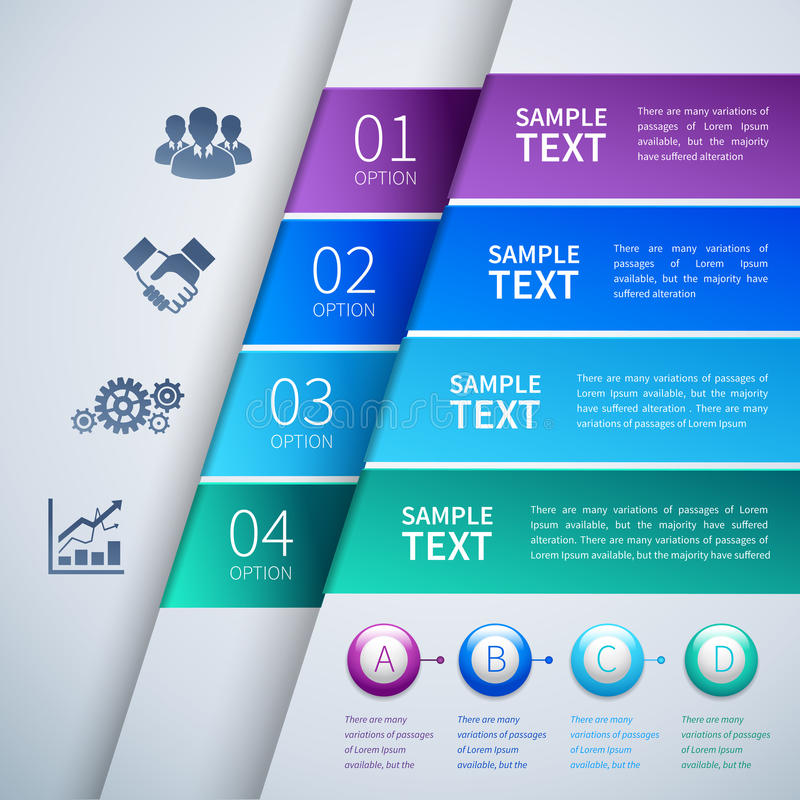 Download Paper Infographics Template Stock Vector - Illustration of elements, option: 39503135