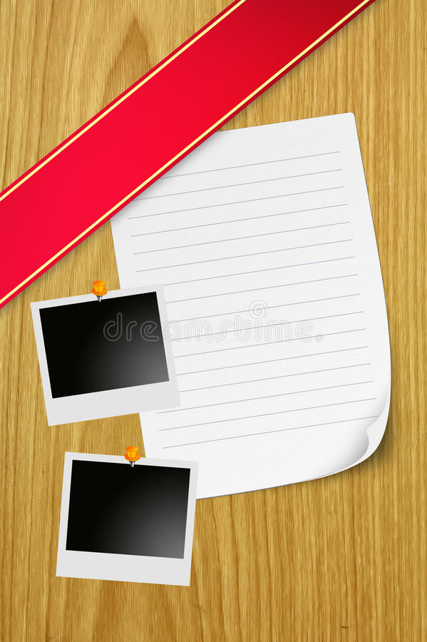 Paper And Instant Photos Royalty Free Stock Image