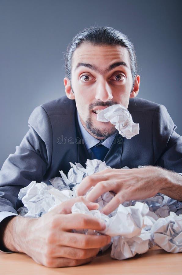 paper kasta för away affärsman arkivfoton