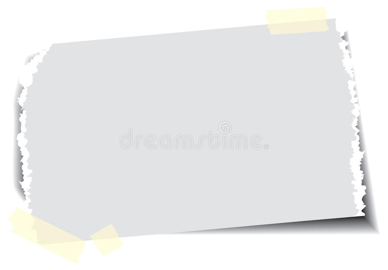paper klibbigt band vektor illustrationer
