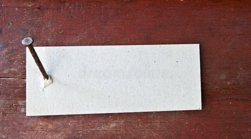 Paper label stock image